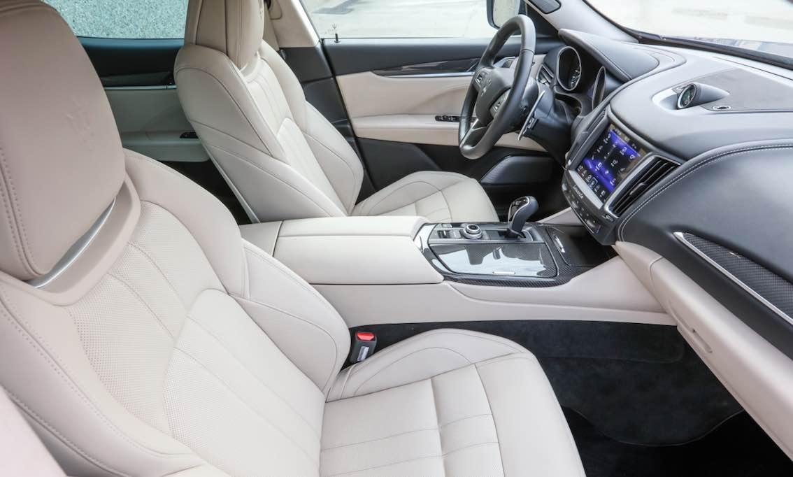 Maserati Levante Innenausstattung Leder weiss