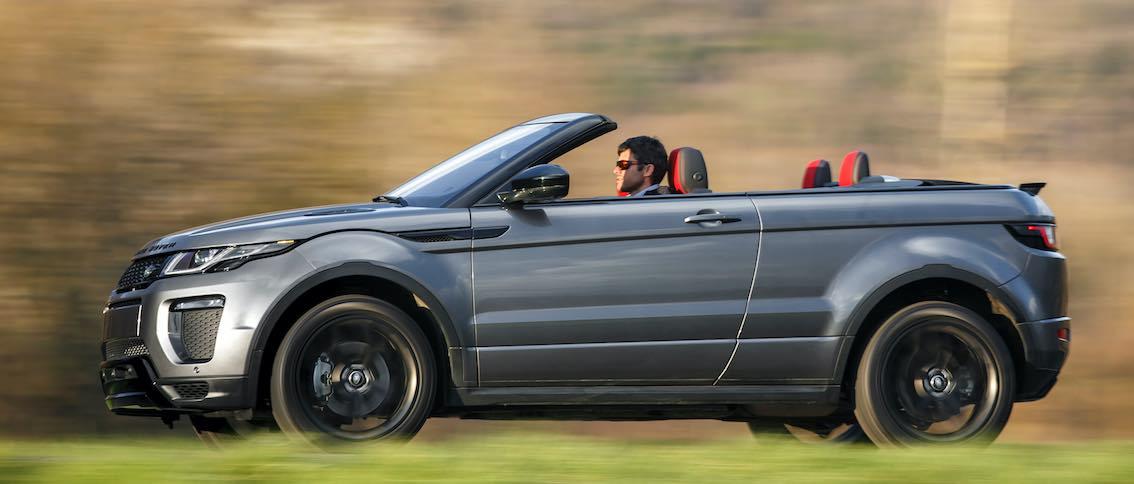 Range Rover Evoque Cabrio grau seitlich