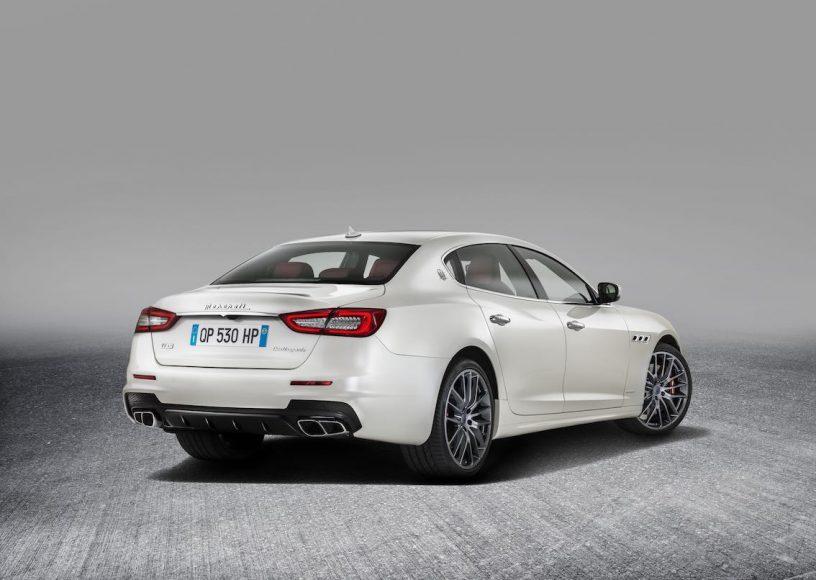 Maserati Quattroporte 2017 weiß hinten