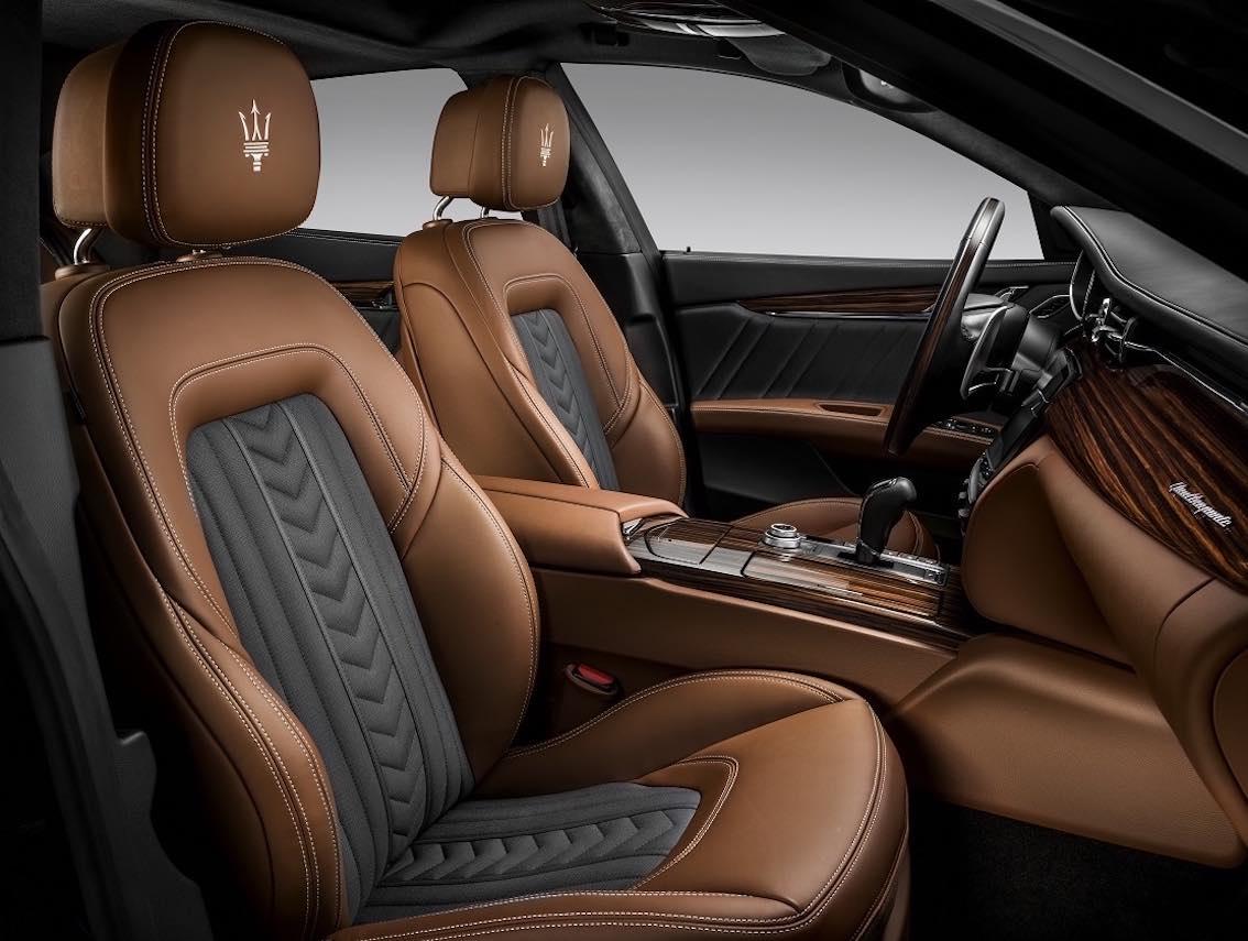 Neuer Maserati Quattroporte S Q4 GranLusso Zegna Interieur Kopie 2