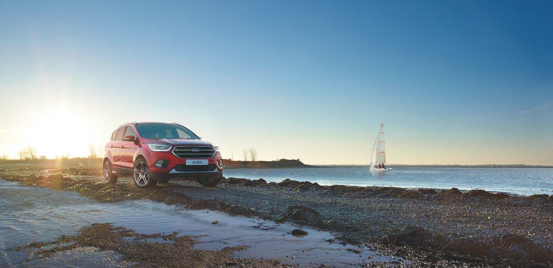 Ford Kuga 2017 vorne rot