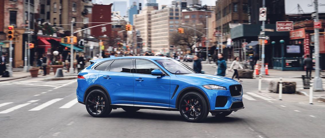 Jaguar F-Pace 2019 Blau Seite