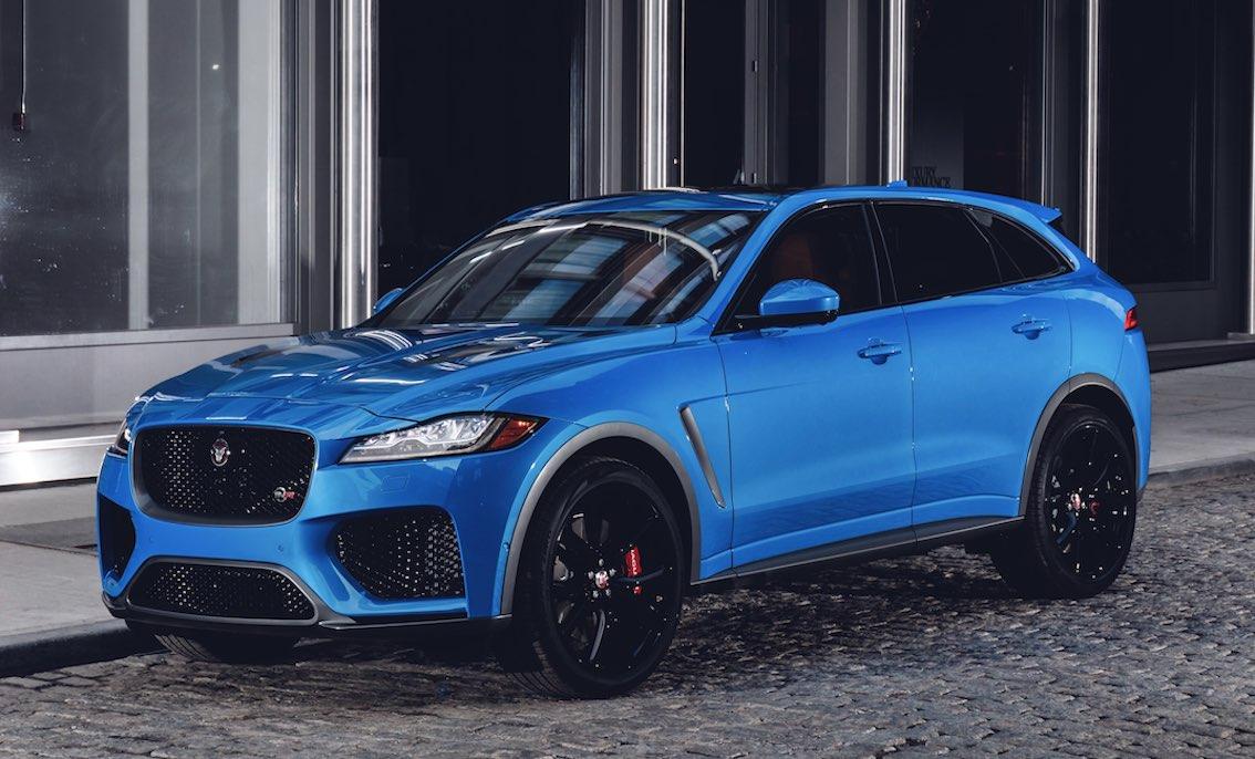 Jaguar F-Pace Blau Seite Front