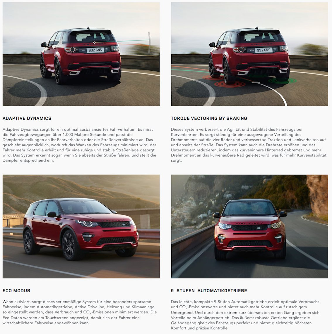 Land Rover Discovery Sport 2017 rot hinten