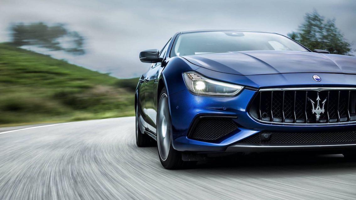 Maserati Ghibli 2018 Blau Front