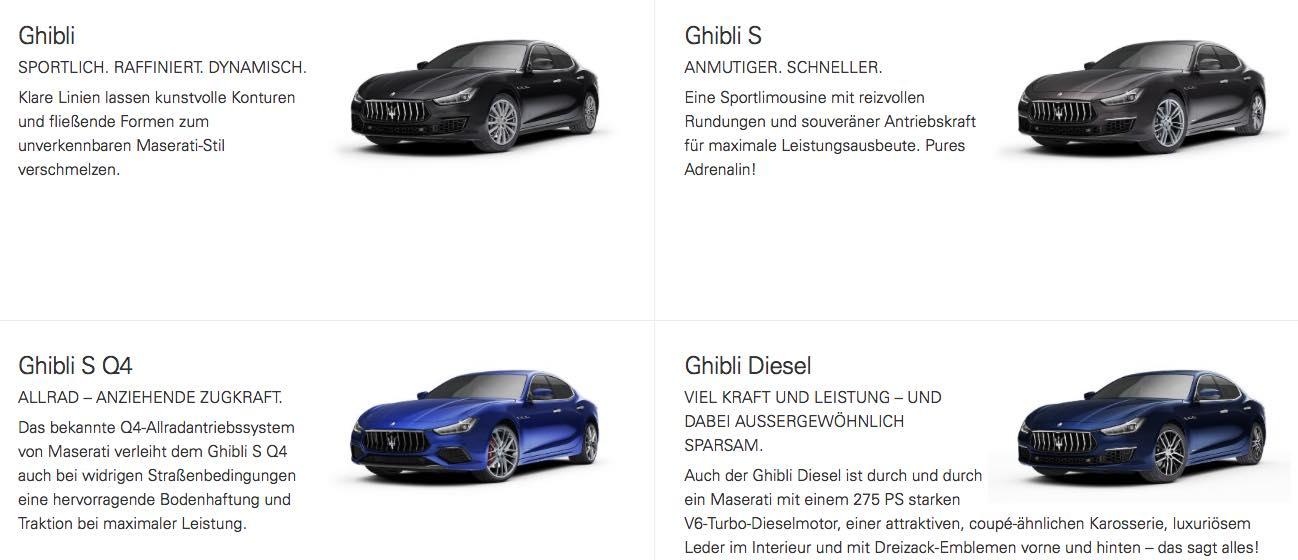 Maserati Ghibli Modelle 2018