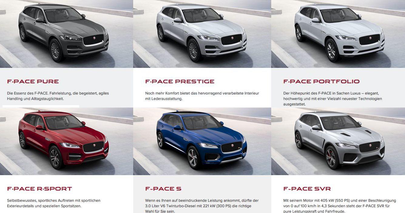 Modelle F-Pace 2019