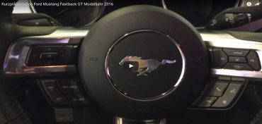 Ford Mustang Fastback GT Rot 2017 Video