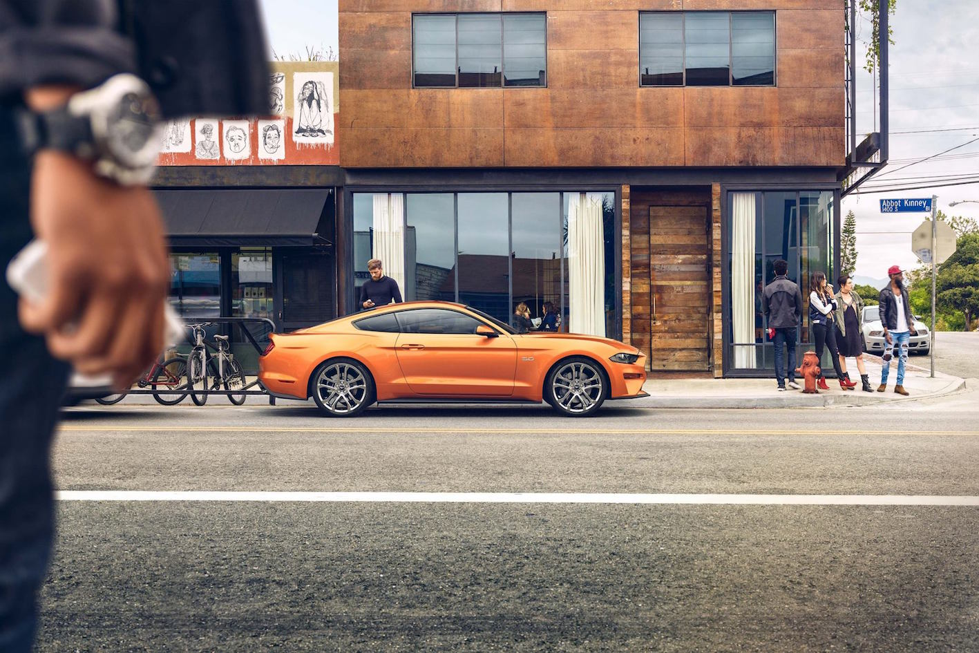 Ford Mustang Orange Seite 2018