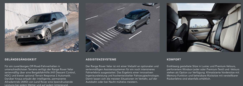 Range Rover Velar Geländegängigkeit