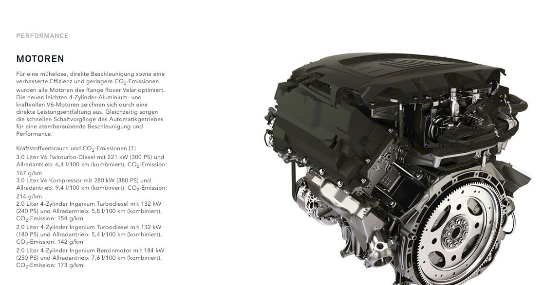 Range Rover Velar Motoren