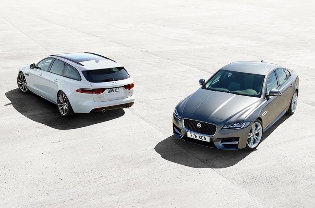 Jaguar XF Sportbrake weiß hinten