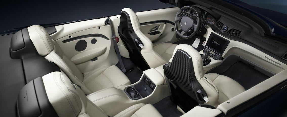 Maserati GranCabrio 2018 weiß innen