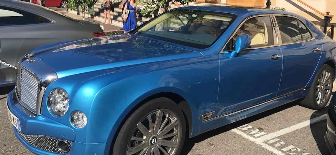 Bentley blau Monaco