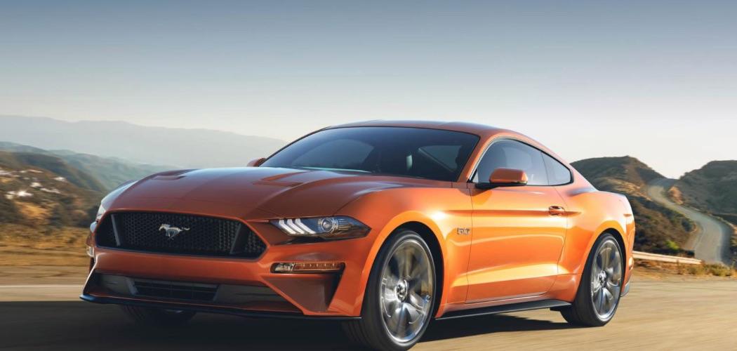 Ford Mustang 2018 orange