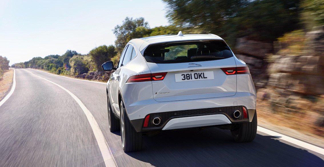 Jaguar E-Pace weiß Heck