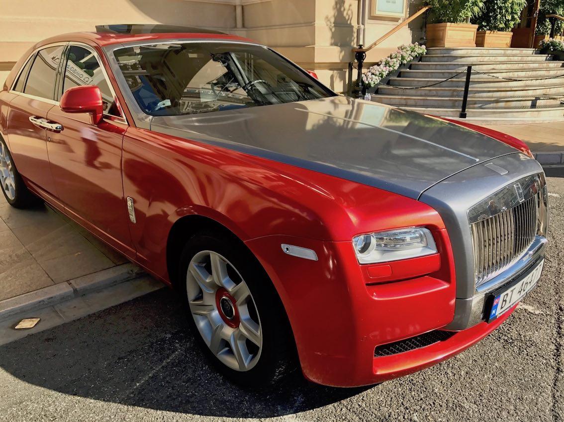 Rolls Royce Rot silber Monaco