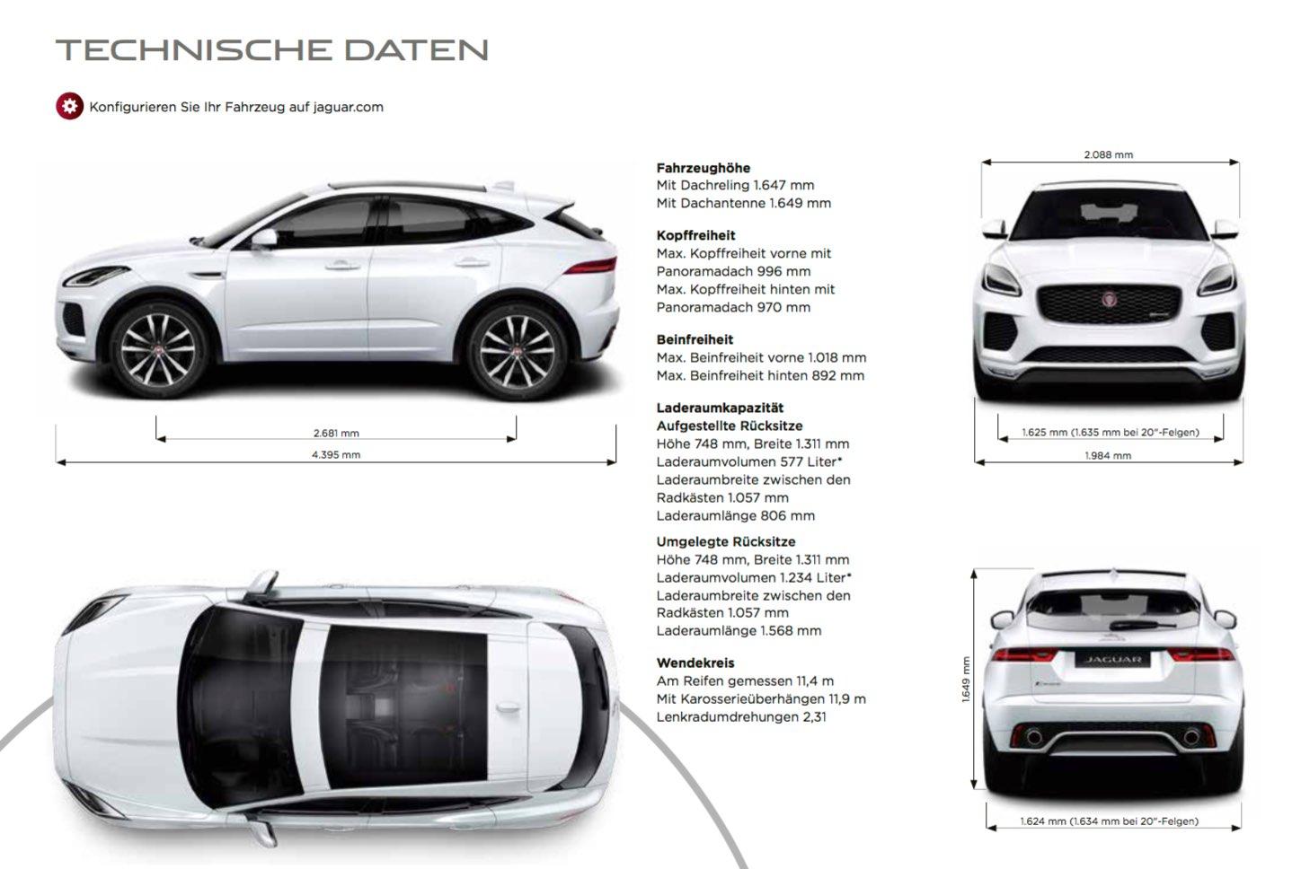 Technische Daten Jaguar E-Pace 2018