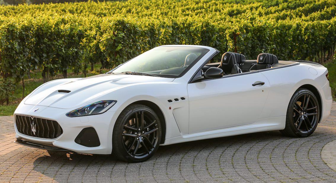 Maserati GranCabrio weiß Weingut