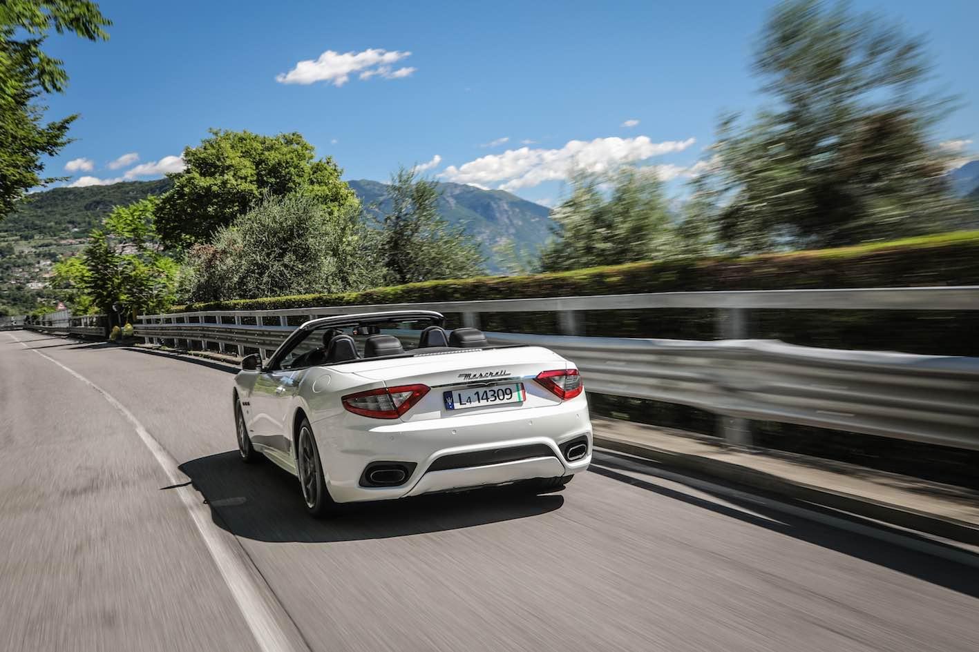 Maserati Grancabrio weiß Heck 2018