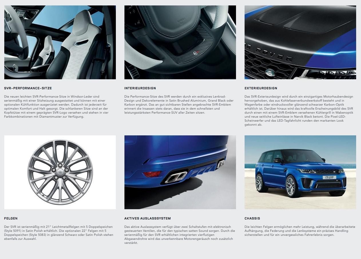 SVR Details 2018 Range Rover Sport