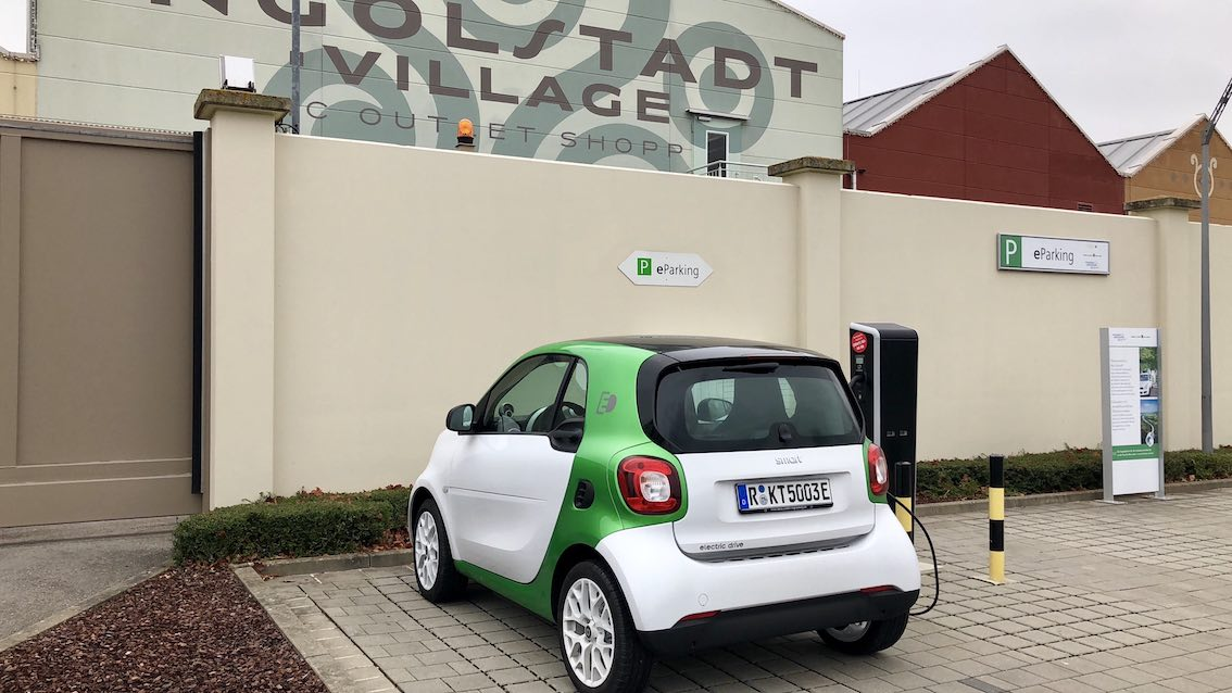 Smart Electric Drive 453 2017 weiß grün