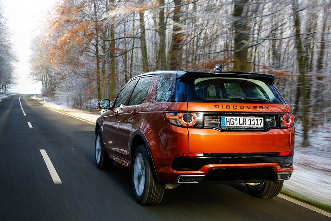 Land Rover Discovery 2018 Orange Heck