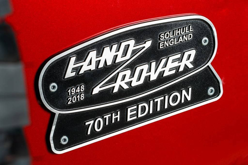 Land Rover 70th Edition 2018 Badge