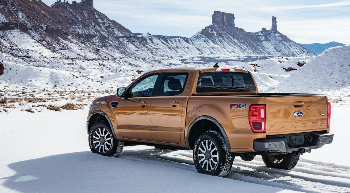 Ford Ranger FX4 Heck Schnee