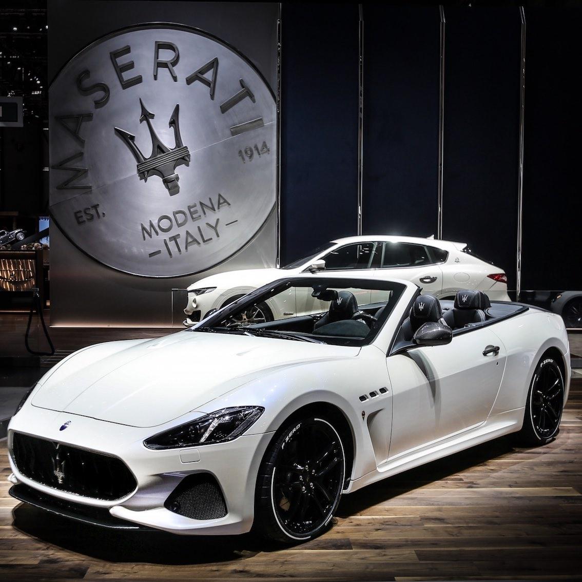 Maserati GranCabrio 2018 weiß
