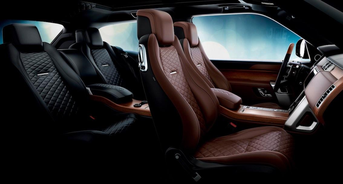 Range Rover SV Coupe Innenausstattung Braun Schwarz