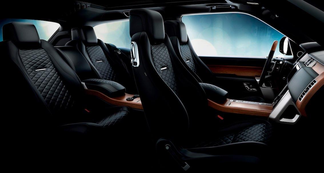 Range Rover SV Coupe Innenausstattung Schwarz
