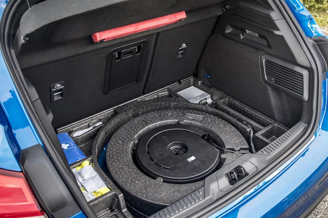 Ford Focus ST Line 2019 Ersatzrad im Kofferraum