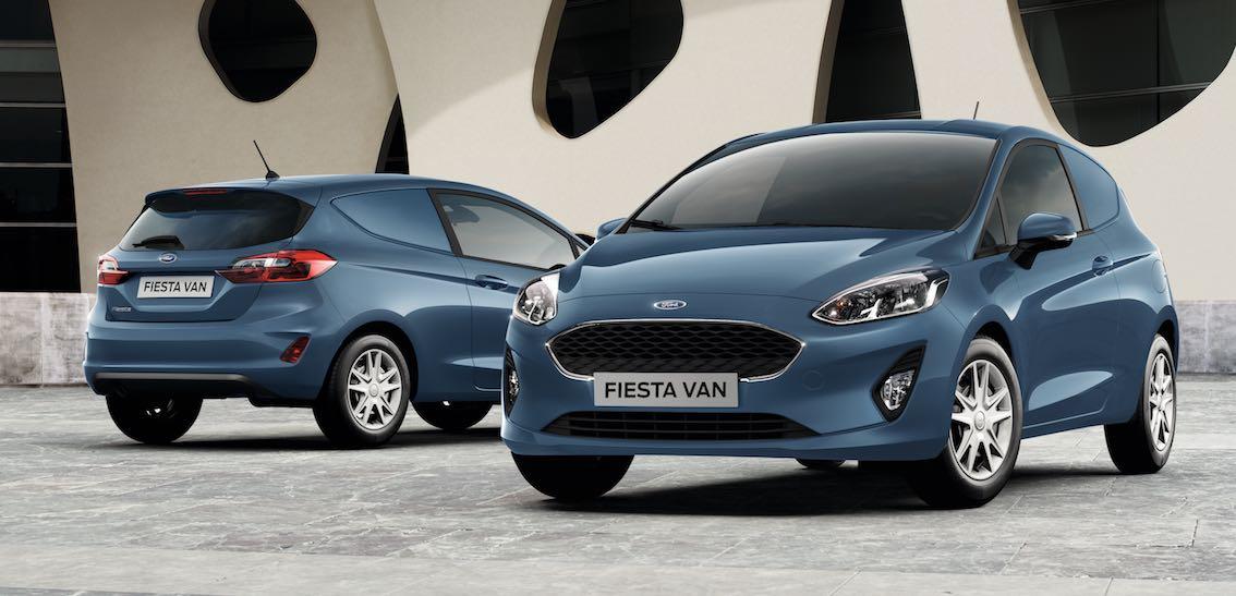 Ford Fiesta Van Blau 2018