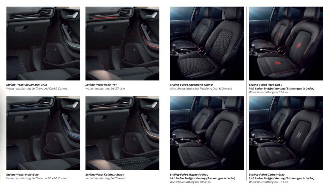 Ford Fiesta 2018 Sitze