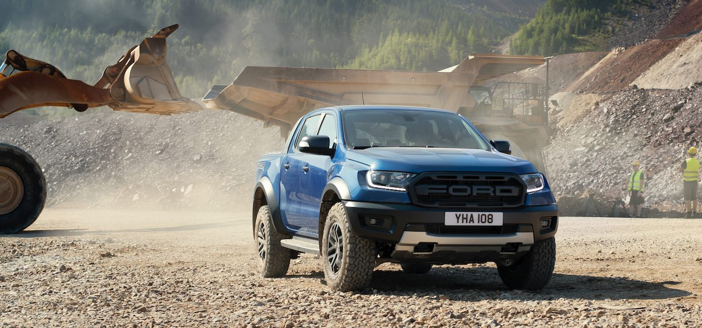 Ford Ranger Raptor 2019 Front in Blau