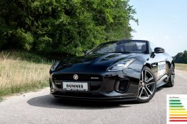 Jaguar F-Type Cabrio Leasing schwarz
