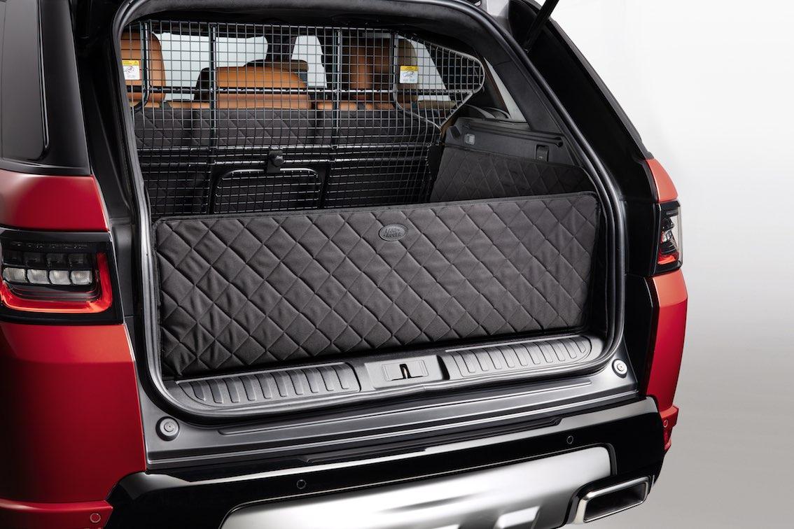 Land Rover Hunde Schutz Kofferraum