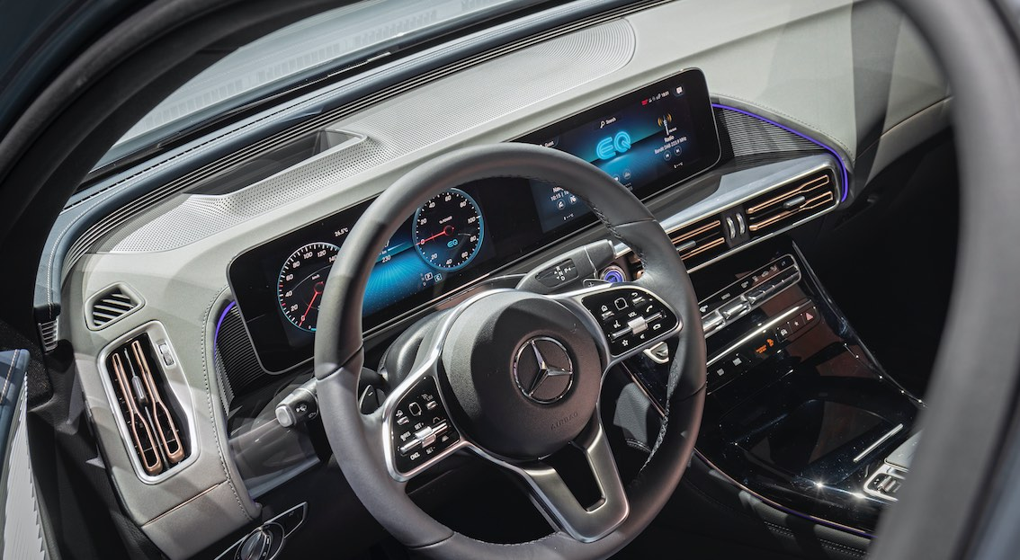Mercedes EQC Lenkrad Innenausstattung