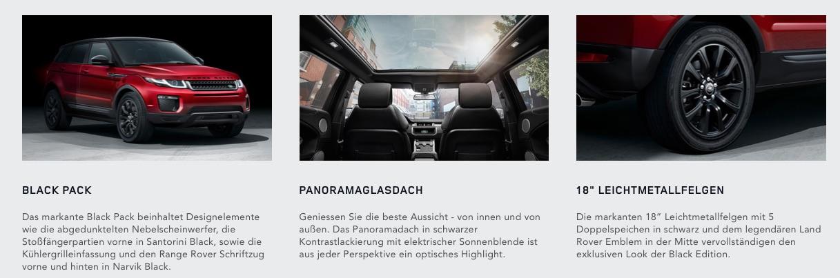 Range Rover Black Edition Sonderausstattung