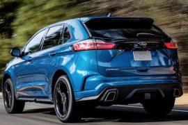 Ford Edge 2019 Heck in Blau