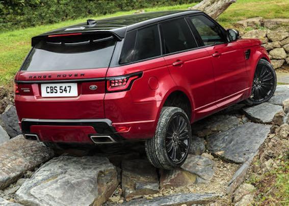Range Rover Sport Rot 2018 Heck