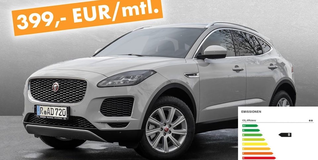 jaguar e pace s leasing angebot f r 399 euro im monat mit e anz. Black Bedroom Furniture Sets. Home Design Ideas