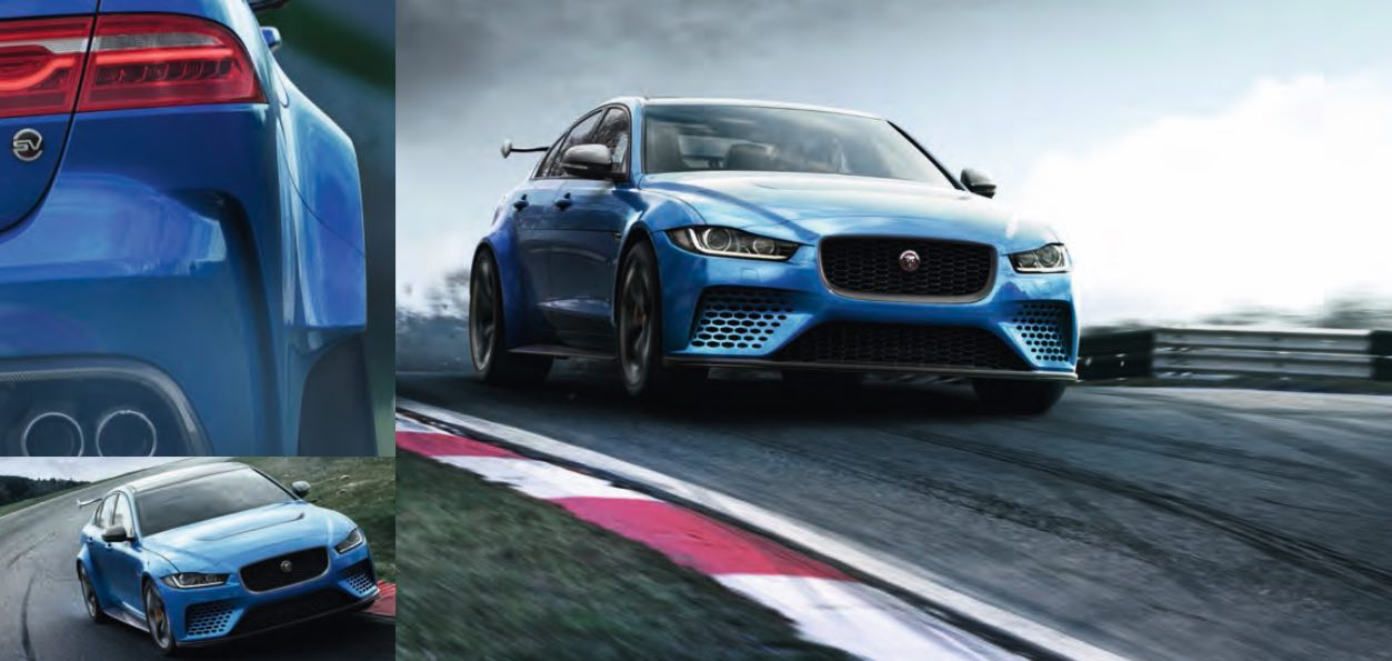 Jaguar XE Project 8 Blau