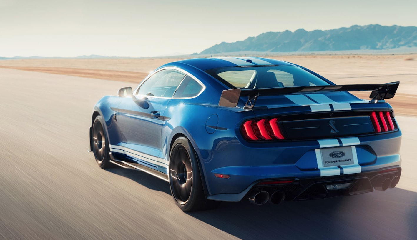 Ford Shelby GT500 2020 in Blau Heck