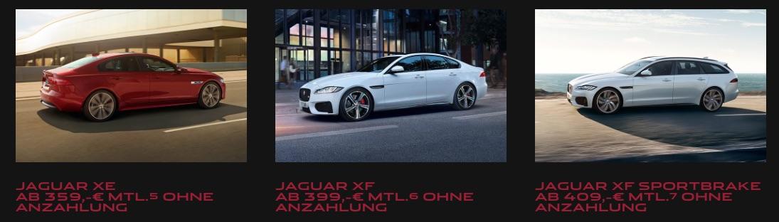 Jaguar Leasing Angebote 2019