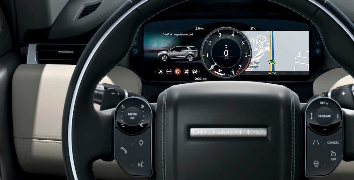 Land Rover Discovery Sport 2020 elektrische Display