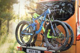 Fahrräder an Ford Nugget Custom
