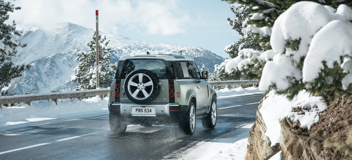 Land Rover Defender 110 Heck Winter
