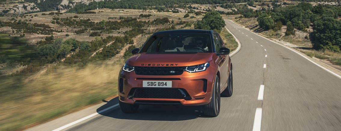 Land Rover Discovery Sport 2021 Front in Orange